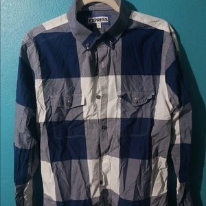 🍄 Men's Express Plaid Button Down
